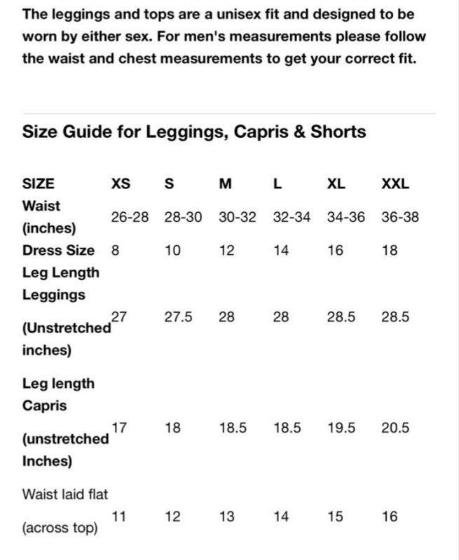 HMLC Size Guide